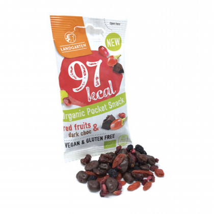 Poket snack fruits rouge & chocolat BIO Sachet fraîcheur - 240g (10 portions de 24g)