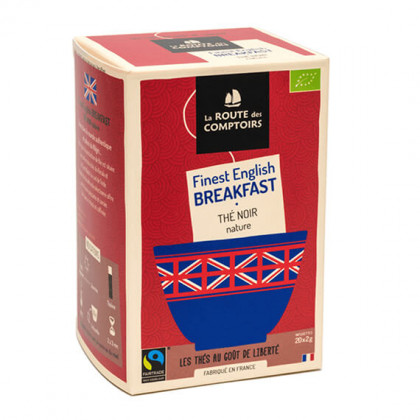 Thé noir BREAKFAST BIO - box de 20 infusions